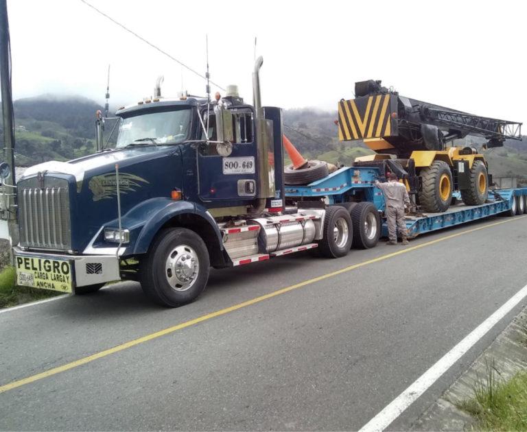Transporte de carga extra dimensionada