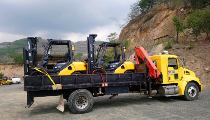 Transporte de carga y maquinaria pesada